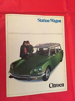 "p 1970 Citroen ""Station Wagon"" Car Dealer Sales Brochure"