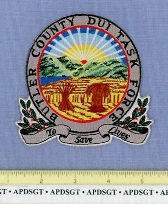 BUTLER COUNTY DUI TASK FORCE OHIO Sheriff Police Patch DWI DRUNK DRIVING  ALCOHOL