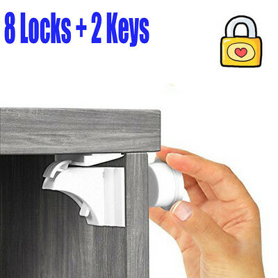 Magnetic Cabinet Locks Child Baby Safty Lock for Childproof Drawers Dresser