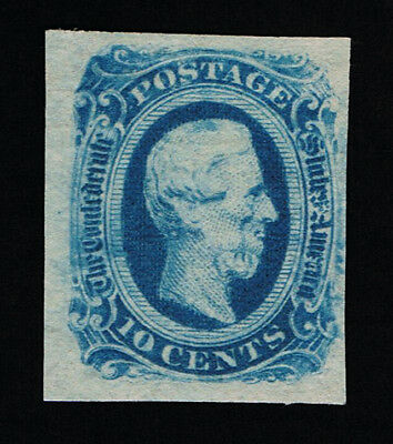 Genuine Confederate Csa Scott #12 Mint Ng Blue Die-B Keatinge & Ball Printing