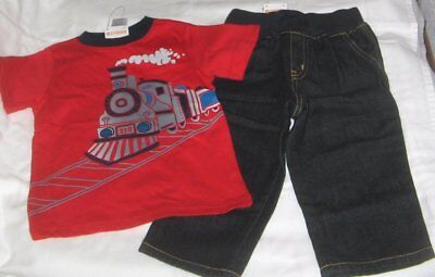 NWT Boys 2T GYMBOREE 2 Pc Outfit Jeans and Short Sleeve Top NEW