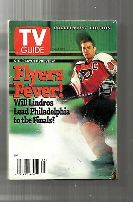 Tv Guide-4/1996-Eric Lindros-Philadelphia Flyers Fever-Nhl Playoff Preview
