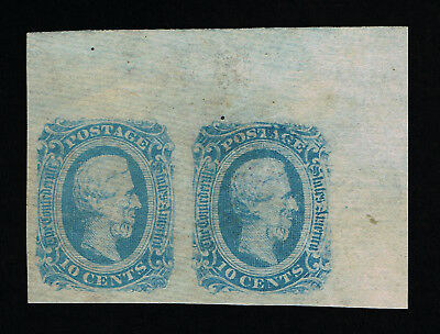 GENUINE CONFEDERATE CSA SCOTT #12a PAIR MINT OG NH MILKY BLUE DIE-B ARCHER DALY