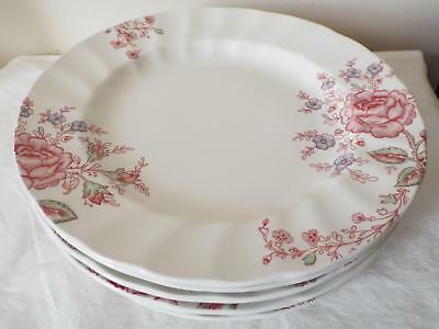 """Set of 6 Johnson Brothers ROSE CHINTZ 27cm 10.5"""" DINNER PLATES New With Tags"""