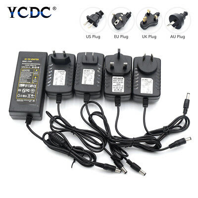 Power Supply Adapters AC/DC 5/12/24V 1/2/4/8A USB Transformer Wall Charger Plugs