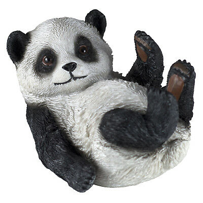 Panda On Back Figurine 3.75 Inch Long Resin New!