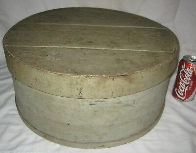 Antique Primitive Folk Art Wood Country Kitchen Pantry Box Cheese Shaker Spice