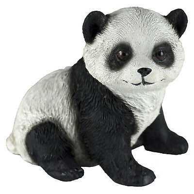 Panda Sitting Figurine 3 Inch High Resin New!