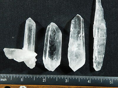 Lot of FOUR! Nice and 100% Natural Quartz Crystals Found in Brazil 79.9gr