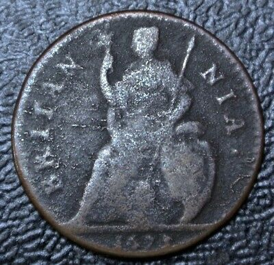 1673 GREAT BRITAIN - FARTHING - COPPER - Charles II - Nice
