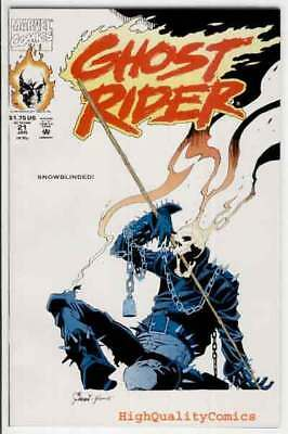 GHOST RIDER #21, NM+, Texeira, Bad to the Bone,1990, more GR in store