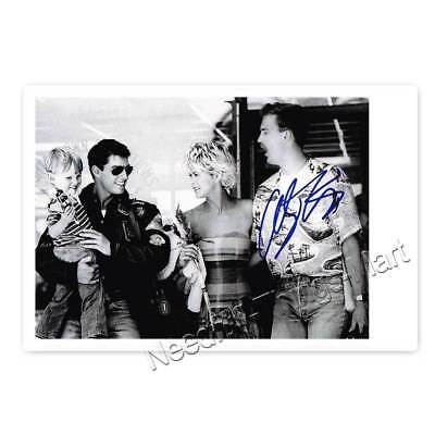 Anthony Edwards - Scene in Top Gun mit Tom Cruise - Autogrammfotokarte