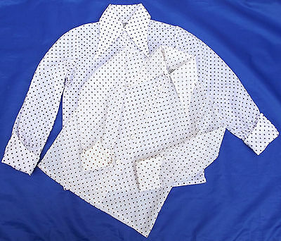 Girls polka dot blouse vintage 1960s 1970s big collar age 7-12 UNUSED washed