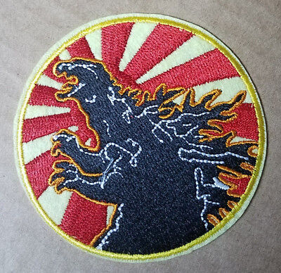 Godzilla Rising Sun Circle Patch 3 inches wide