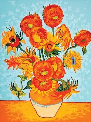 Grafitec Printed Tapestry Needlepoint Canvas - Sunflower, Van Gogh