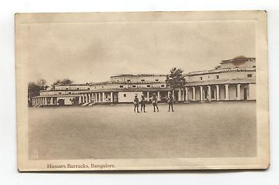 Bangalore, India - Hussars Barracks - old Tuck postcard