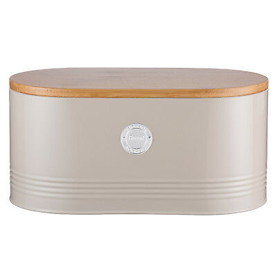Typhoon Living Large Putty Bread Loaf Bin Storage Container with Bamboo Lid