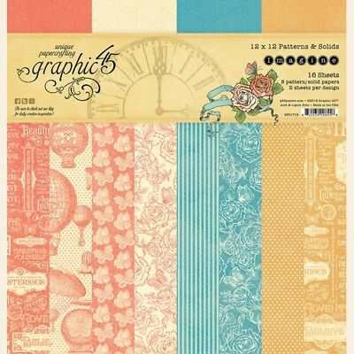 Graphic 45 WORLD/'s FAIR 6x6 Pattern /& Solid Paper Pad 36pc Mixed Media Cards