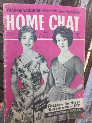 VINTAGE Home Chat Magazine, 14th February 1959 Frankie Vaughan