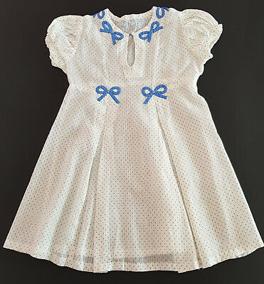 VINTAGE 1930's GIRL'S POLKA DOT DRESS, COLLECTORS, REBORN DOLLS, PHOTOGRAPHER