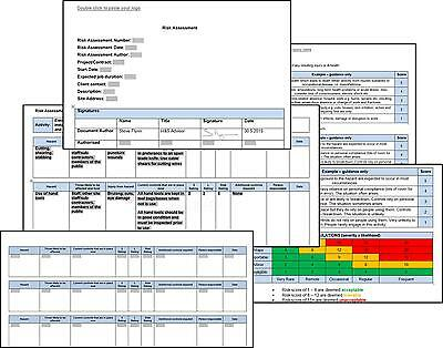 Risk Assessment + Method Statement - Work At Height + Mewp + Scaffold + Ladder