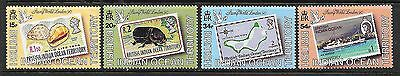 BRITISH INDIAN OCEAN TERRITORY Sc 90-93 NH ISSUE OF 1990 - STAMPS-ON-STAMPS