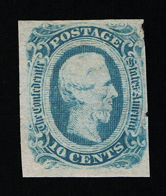 GENUINE CONFEDERATE CSA SCOTT #12b MINT NG DIE-B LIGHT BLUE ARCHER & DALY