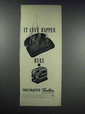 1938 Toastmaster Toaster Ad - It Can't Happen Here