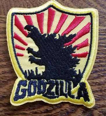 Godzilla Rising Sun Shield Patch 3  inches tall