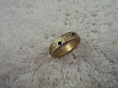Medieval Style Goldtone Colorful Rhinestone Band Ring (B6)