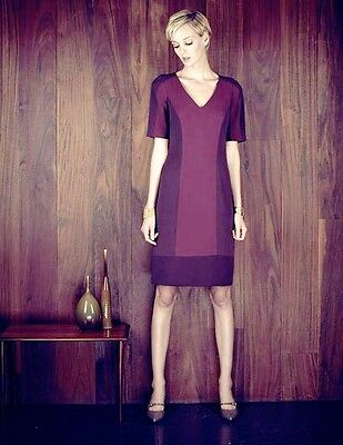 9af0eca16af Boden Limited Edition Contour Colorblock Dress Cranberry Sz Us 10 Uk 14