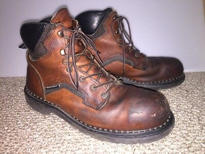 d29936af217 MEN'S RED WING 2226 Dyna Force Steel Toe Brown Leather Work Boots Size 10.5  D