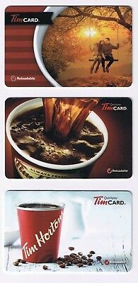 Tim Horton's 2014 2015 Timcard Gift Card Set of 3 No Value