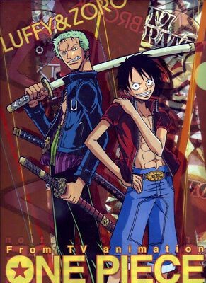One PIece  Anime Manga Clear File Folder Official Japan Movic NEW Zoro Luffy