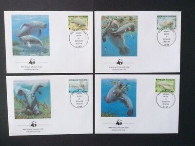 Togo - 1984, WWF - West African Manatee set on 4 x FDC - SG 1722/5