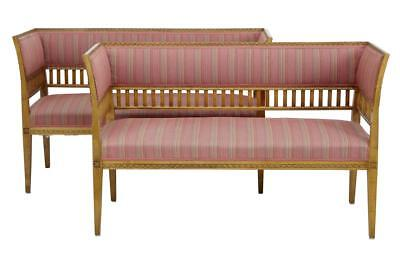 Pair Of Small Early 20Th Century Birch Sofas