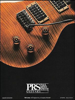 PRS electric guitar 8 x 11 Paul Reed Smith advertisement 1992 ad print