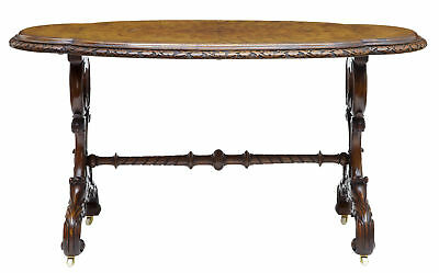 19Th Century Victorian Carved Walnut Side Table