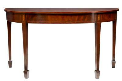 Late 19Th Century Demi Lune Mahogany Serving Table