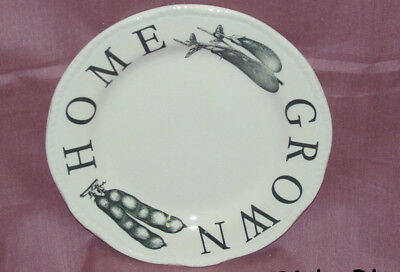 """Wood & Sons """"KITCHEN GARDEN BLACK"""" Side Bread & Butter Plate~New~Made in England"""