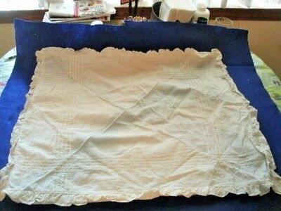 Antique LINENS.  Square BED PILLOW COVERS.  Tucks & Ruffles.