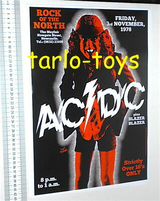 AC/DC ACDC Angus Young - Newcastle, Uk - 3 Novembre 1978  - poster concerto