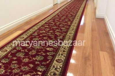 Hallway Runner Hall Runner Rug Traditional Red 5 Metres Long FREE DELIVERY 2-RI