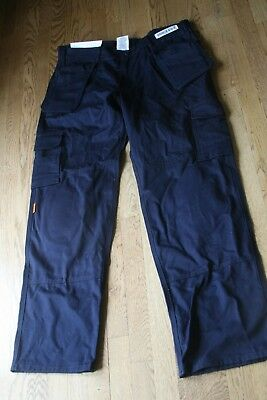 THRIVE Flame Resistant Tactical Cargo Knee Pad Work Pants FR 7820 Navy Blue NEW