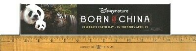 "Born In China (2016) Box Office Movie Theater Mylar 2.5""X11.5"""
