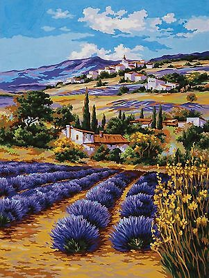 Grafitec Printed Tapestry Needlepoint Canvas - Lavender Fields