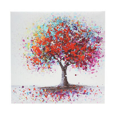 Framed Colorful Tree Abstract Canvas Print Art Oil Painting Picture Home Decor