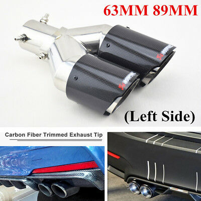 Carbon Fiber UNIVERSAL DUAL EXHAUST PIPES MUFFLER MODIFICATION 63MM 89MM