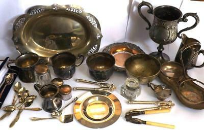 Large Lot Of Antique & Vintage Silver Plated Items