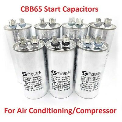 450VAC CBB65 Air Conditioning/Compressor Start Run Capacitors 50/60Hz 5uF -100uF